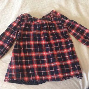 Baby gap flannel plaid dress